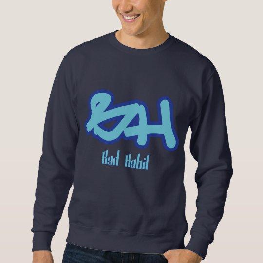 Bad Habit Logo Blue Sweatshirt