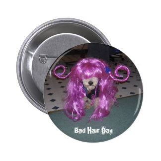 Bad Hair Day 2 Inch Round Button