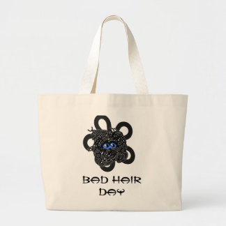 Bad hair day tote bags