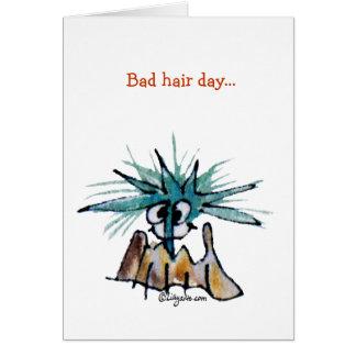 Bad Hair Day Barnacle Hair Stylist Cartoon Card