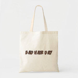 Bad Hair Day Funny Realistic Hair Typography