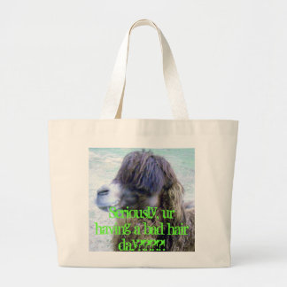Bad hair day! large tote bag