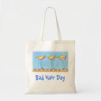 Bad Hair Day Tote Budget Tote Bag