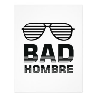 Bad Hombre Personalized Letterhead