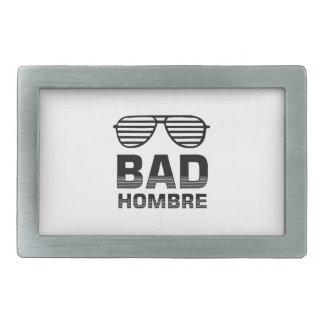 Bad Hombre Rectangular Belt Buckle