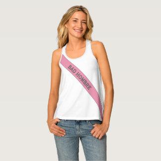 Bad Hombre Sash Racerback Tank- Princess Pink Tank Top