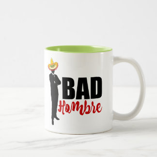 Bad Hombre Silhouette and Sombrero Two-Tone Coffee Mug