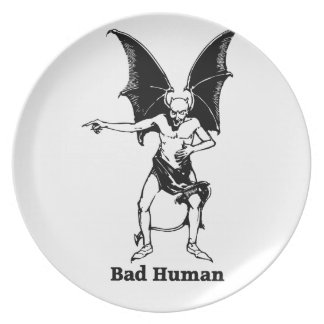 Bad Human Mocking devil Plates