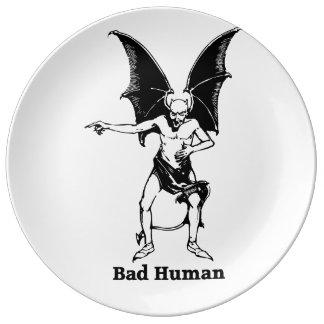 Bad Human Mocking devil Porcelain Plate