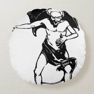 Bad Human Mocking devil Round Pillow