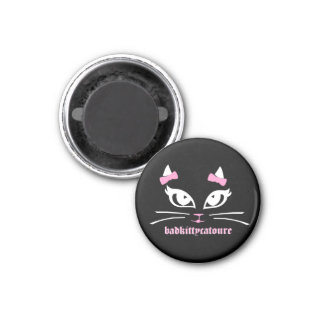 Bad Kitty Catoure Itsy Black Button Magnet