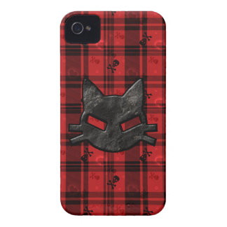 Bad Kitty iPhone 4 Case with Skulls & Hearts