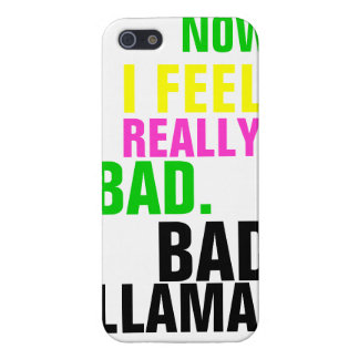 Bad Llama Typography iPhone 5/5S Cases