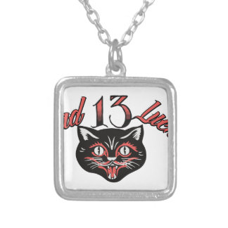 Bad Luck Cat Silver Plated Necklace