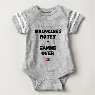 BAD MARKS = RANGE OVER - Word games Baby Bodysuit