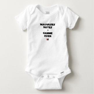 BAD MARKS = RANGE OVER - Word games Baby Onesie