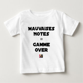 BAD MARKS = RANGE OVER - Word games Baby T-Shirt
