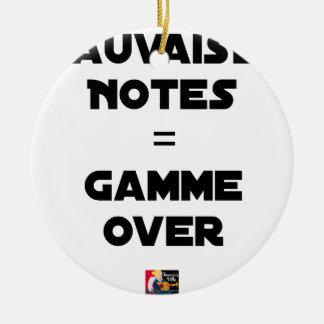 BAD MARKS = RANGE OVER - Word games Ceramic Ornament