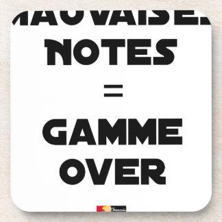 BAD MARKS = RANGE OVER - Word games Coaster