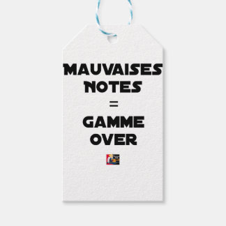 BAD MARKS = RANGE OVER - Word games Gift Tags