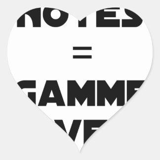 BAD MARKS = RANGE OVER - Word games Heart Sticker