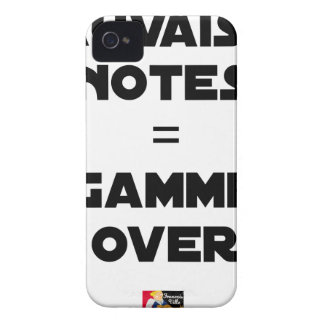 BAD MARKS = RANGE OVER - Word games iPhone 4 Case