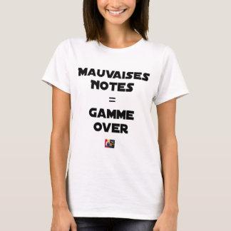 BAD MARKS = RANGE OVER - Word games T-Shirt