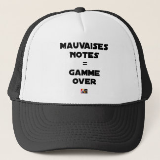 BAD MARKS = RANGE OVER - Word games Trucker Hat