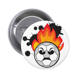 Bad mood to soccer ball 2 inch round button