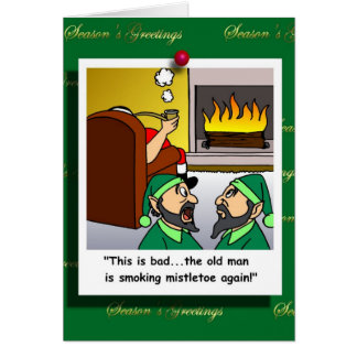 Bad News About Santa Cartoon Card