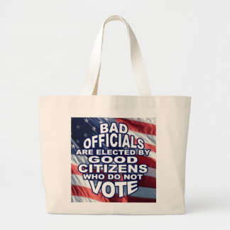 Bad Officials Large Tote Bag
