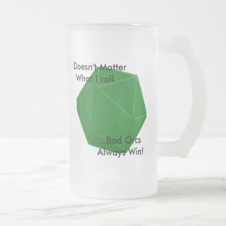 Bad Orc Frosted Glass Beer Mug