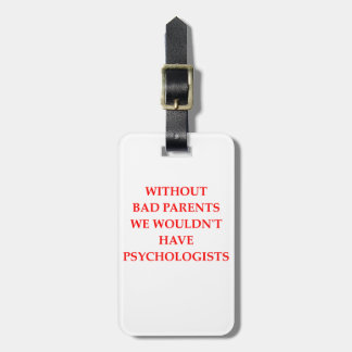 bad parents luggage tag