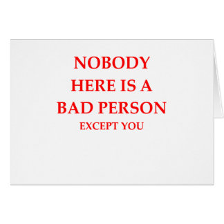 bad person card