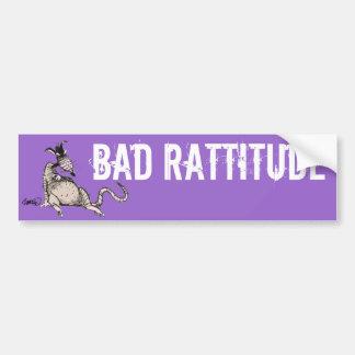 Bad Rattitude Bumper Sticker