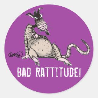 Bad Rattitude Sticker