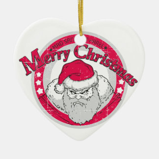 Bad Santa Ceramic Ornament