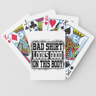 Bad shirt looks good on this body bicycle playing cards