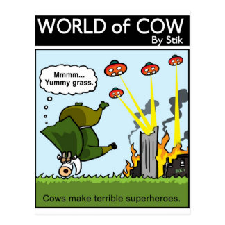 Bad Superheroes Postcard