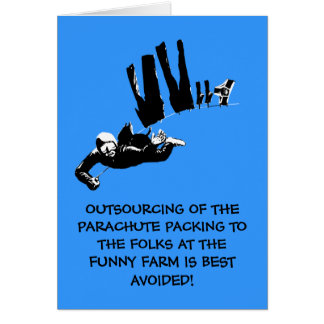 Bad taste but funny skydiving card
