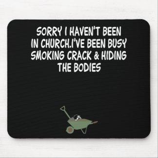 Bad taste crack joke mouse pad