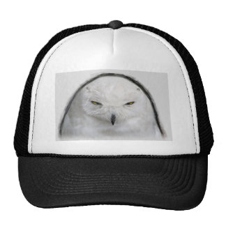 bad-tempered snowy owl trucker hat
