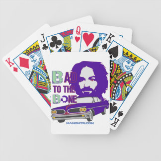 bad to the bone 2 bicycle playing cards