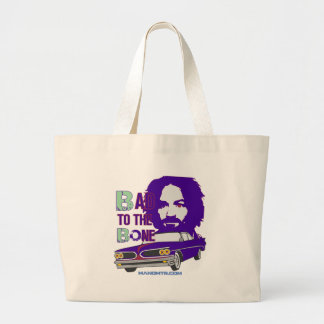 bad to the bone 2 large tote bag