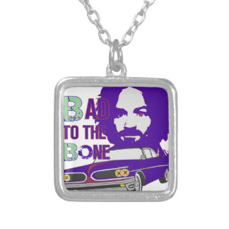 bad to the bone 2 silver plated necklace