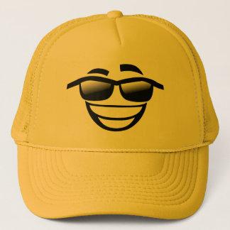 Bad to the Bone cool guy Emoji Trucker Hat