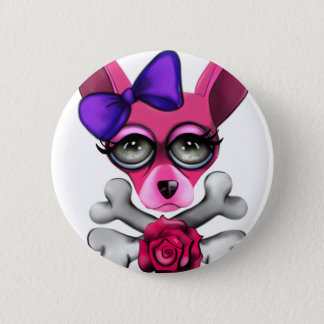 Bad To The Bone Girl 2 Inch Round Button