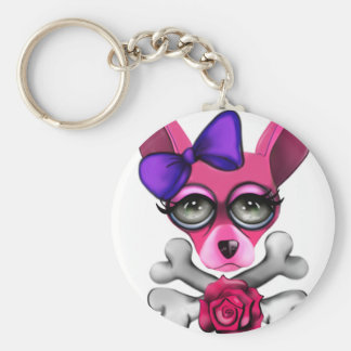 Bad To The Bone Girl Keychain