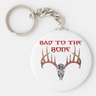 Bad to the bone keychain