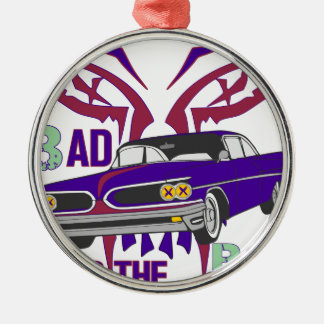bad to the bone Silver-Colored round ornament
